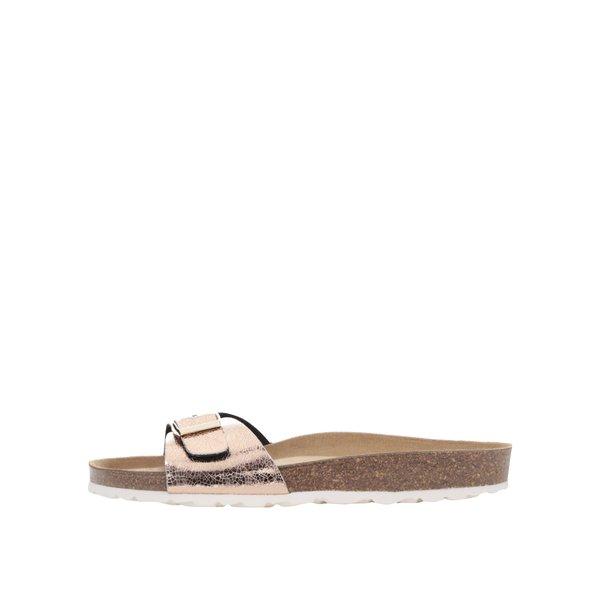 Papuci auriu rose OJJU cu accesoriu metalic de la OJJU in categoria șlapin