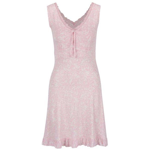 Cămașă de noapte roz deschis M&Co cu model și detalii din dantelă de la M&Co in categoria Lenjerie intimă, pijamale, costume de baie