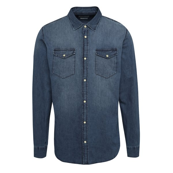 Cămașă albastru închis Jack & Jones One din denim de la Jack & Jones in categoria Cămăși