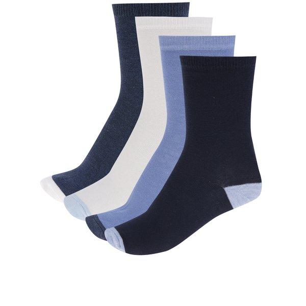 Set de 4 perechi de șosete albastru & alb M&Co cu detalii de la M&Co in categoria Dresuri si șosete
