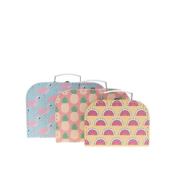Set de 3 cutii Sass & Belle cu imprimeu de la Sass & Belle in categoria Copii