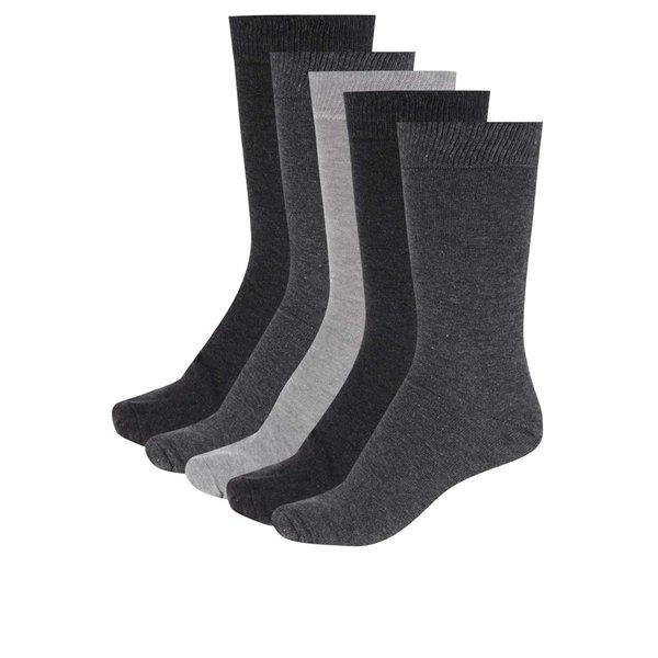 Set de 5 perechi de șosete gri M&Co de la M&Co in categoria Dresuri si șosete