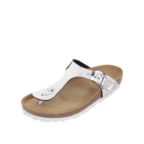 Papuci argintii OJJU cu accesoriu metalic de la OJJU in categoria șlapin