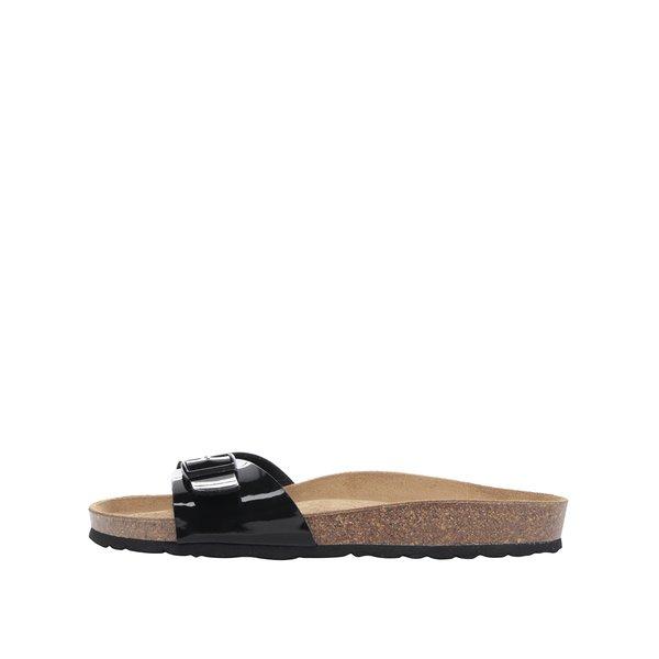 Papuci negri OJJU cu aspect lucios de la OJJU in categoria șlapin