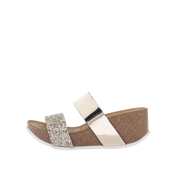 Papuci aurii OJJU cu platformă de la OJJU in categoria șlapin