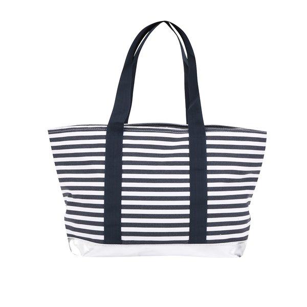 Geantă shopper albastru & alb M&Co cu model în dungi de la M&Co in categoria genți mari