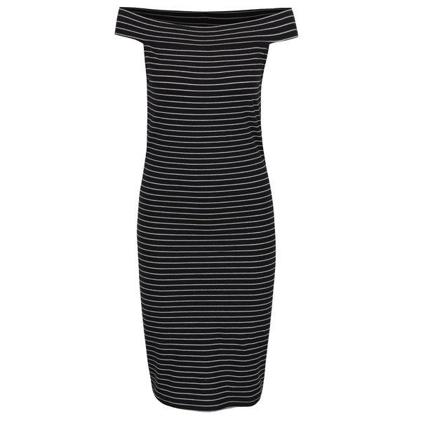 Rochie neagră ONLY Cornelia cu dungi de la ONLY in categoria rochii casual