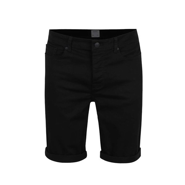 Pantaloni scurți negri Burton Menswear London din denim de la Burton Menswear London in categoria Blugi, pantaloni, pantaloni scurți
