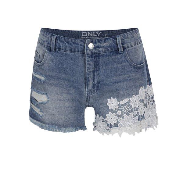 Pantaloni scurți albaștri ONLY Carmen din denim de la ONLY in categoria Blugi, pantaloni, colanți