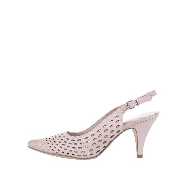 Pantofi slingback roz prăfuit Tamaris din piele cu toc de la Tamaris in categoria pantofi cu toc