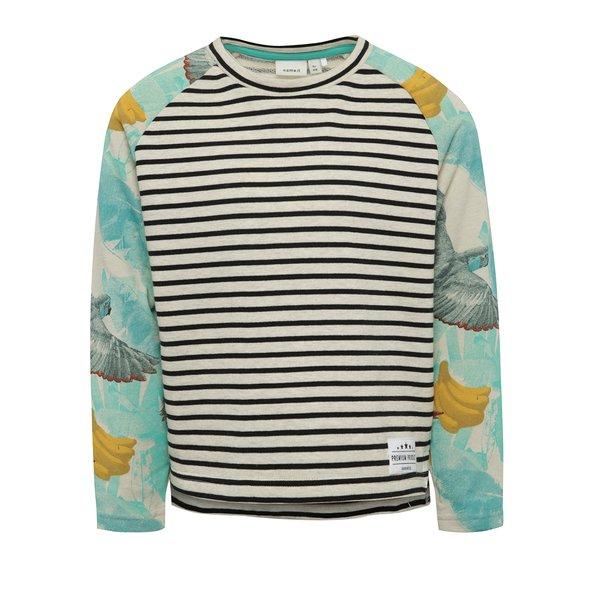 Bluză crem & albastru name it Jess cu model în dungi și print pentru fete de la name it in categoria Pulovere, hanorace