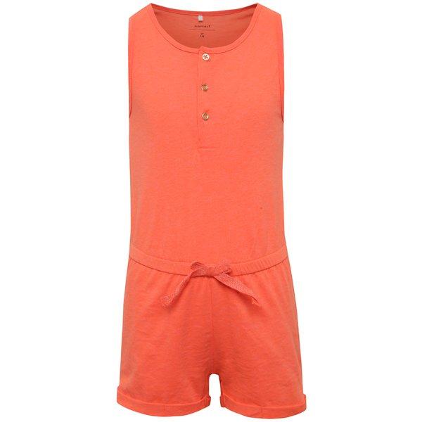 Salopetă portocalie name it Kasta cu talie elastică de la name it in categoria Pantaloni, pantaloni scurți, colanți