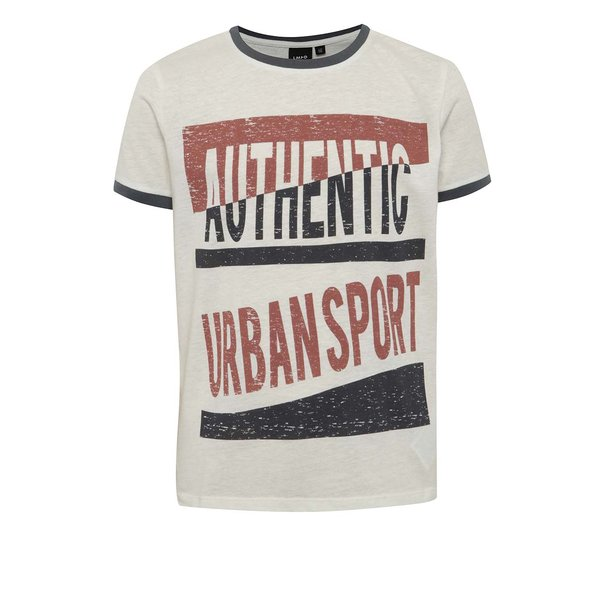 Tricou crem melanj LIMITED by name it Sylvest cu print pentru băieți de la LIMITED by name it in categoria Tricouri, camasi