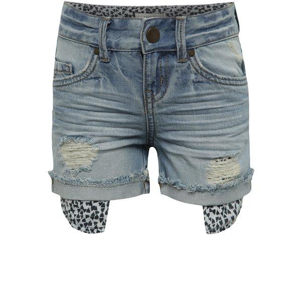 Pantaloni scurți albaștri name it Belli cu aspect deteriorat pentru fete de la name it in categoria Pantaloni, pantaloni scurți, colanți