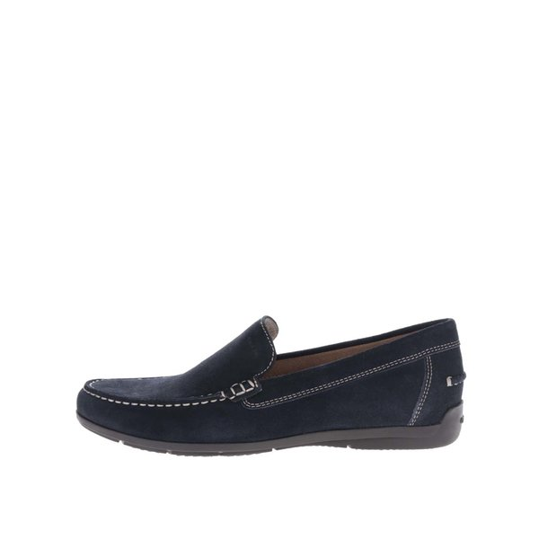 Mocasini bleumarin din piele întoarsă Geox Simon pentru bărbați de la Geox in categoria pantofi și mocasini