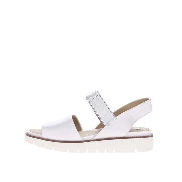 Sandale albe din piele Geox Darline de la Geox in categoria sandale