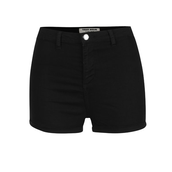 Pantaloni scurți negri TALLY WEiJL cu talie înaltă de la TALLY WEiJL in categoria Blugi, pantaloni, colanți
