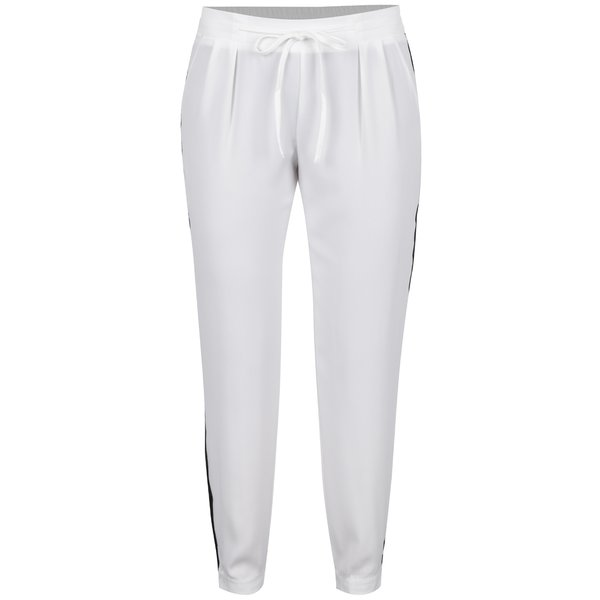 Pantaloni crem TALLY WEiJL cu inserții laterale