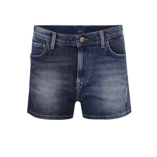 Pantaloni scurți albaștri din denim Pepe Jeans Patchy de la Pepe Jeans in categoria Blugi, pantaloni, colanți