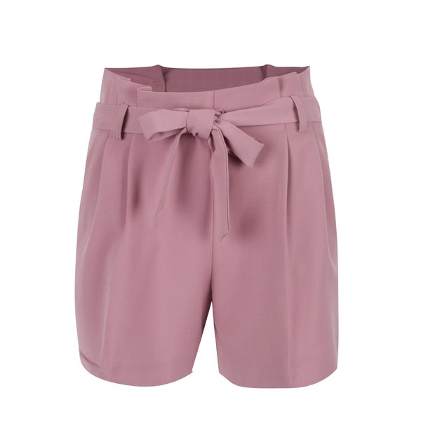 Pantaloni scurți roz Miss Selfridge cu cordon
