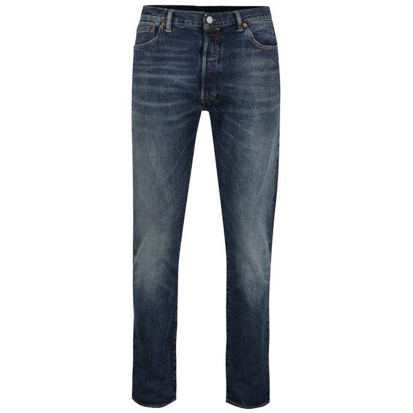 Blugi albastru închis Levi's® 501™ cu aspect ușor prespălat de la Levi's® in categoria Blugi, pantaloni, pantaloni scurți