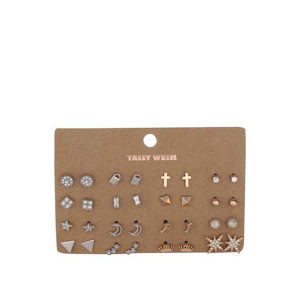 Set 16 perechi de cercei aurii& argintii TALLY WEiJL din metal de la TALLY WEiJL in categoria Ceasuri și bijuterii
