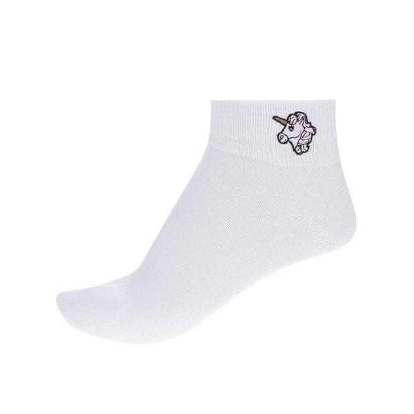 Șosete albe TALLY WEiJL cu imprimeu cu unicorn de la TALLY WEiJL in categoria Dresuri si șosete