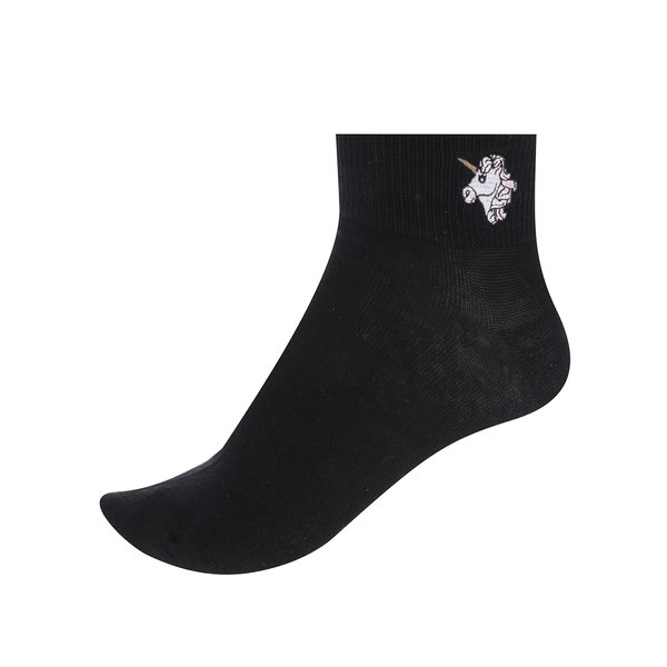 Șosete scurte negre TALLY WEiJL cu imprimeu cu unicorn de la TALLY WEiJL in categoria Dresuri si șosete