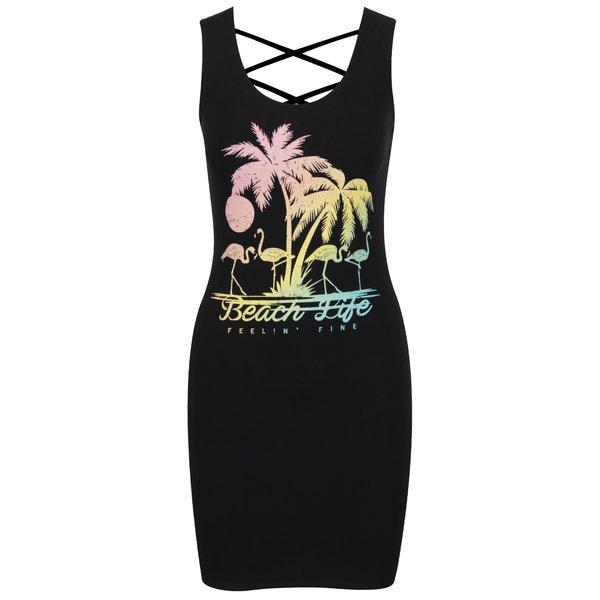 Fustă neagră TALLY WEiJL cu imprimeu de la TALLY WEiJL in categoria rochii de vară și de plajă
