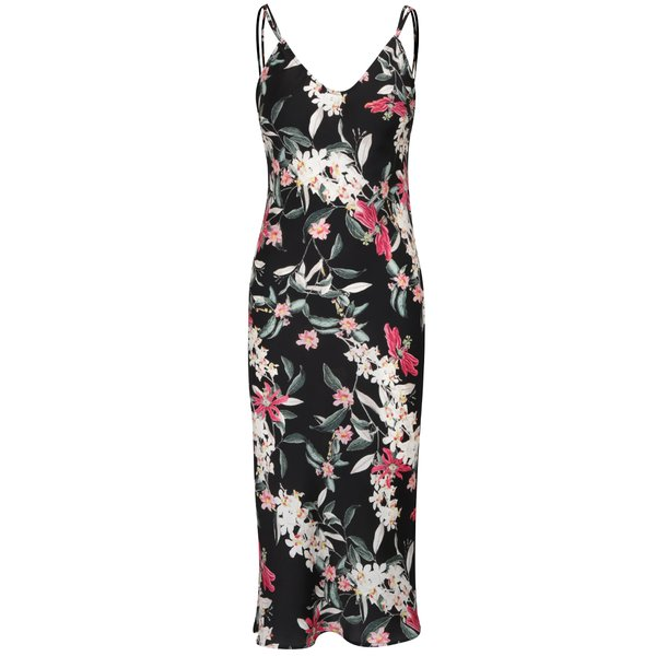 Rochie neagră TALLY WEiJL cu imprimeu floral de la TALLY WEiJL in categoria rochii de vară și de plajă