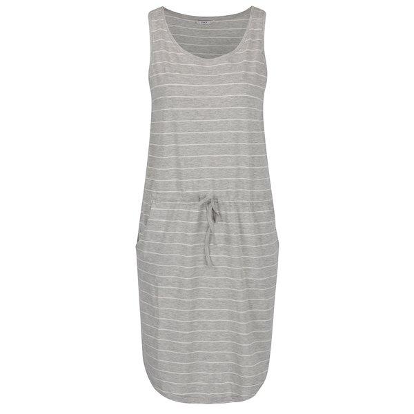 Rochie gri melanj ONLY May cu model în dungi de la ONLY in categoria rochii de vară și de plajă