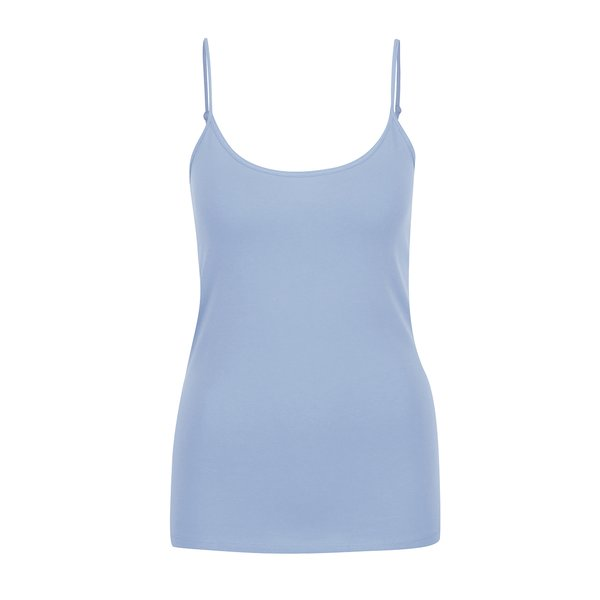 Maiou bleu ONLY Live Love cu bretele subțiri de la ONLY in categoria Topuri, tricouri, body-uri