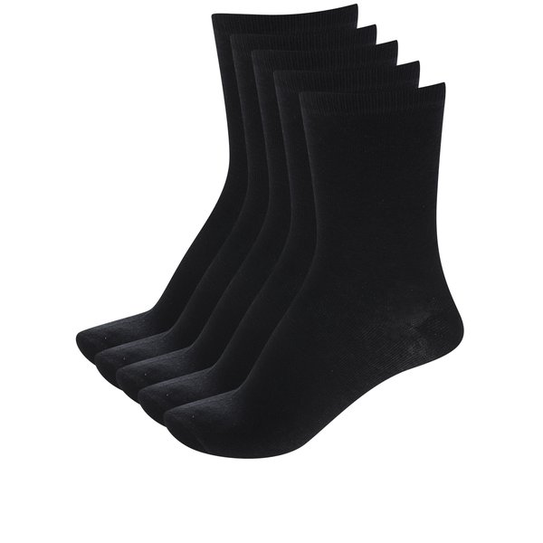 Set cinci perechi de șosete negre ONLY Lova de la ONLY in categoria Dresuri si șosete