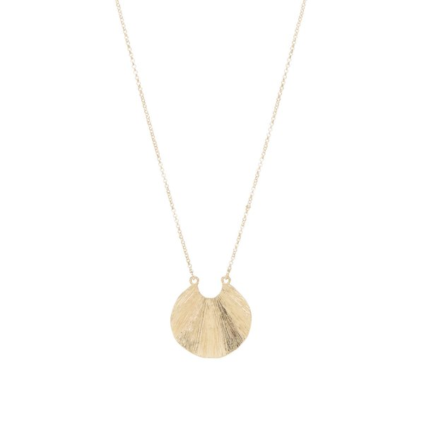 Colier auriu Pieces Emmi cu pandantiv în formă de scoică de la Pieces in categoria Ceasuri și bijuterii