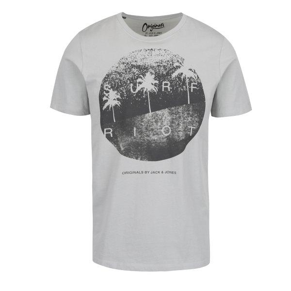 Tricou gri deschis Jack & Jones Venice cu print de la Jack & Jones in categoria tricouri