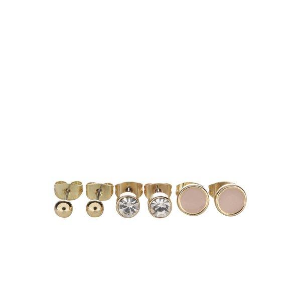 Set de 3 perechi de cercei aurii Pieces Malle de la Pieces in categoria Ceasuri și bijuterii
