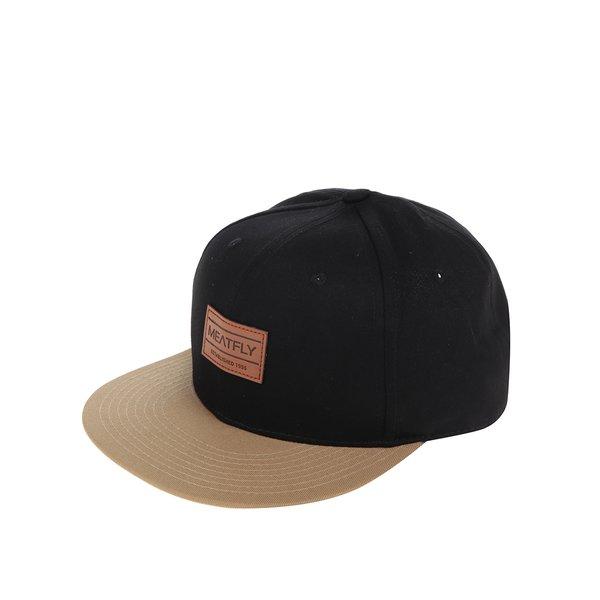 Șapcă neagră MEATFLY Exchange cu aplicație pentru bărbați de la Meatfly in categoria Accesorii