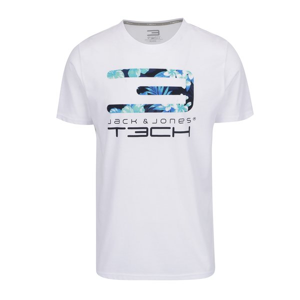 Tricou alb Jack & Jones Tropic cu print de la Jack & Jones in categoria tricouri