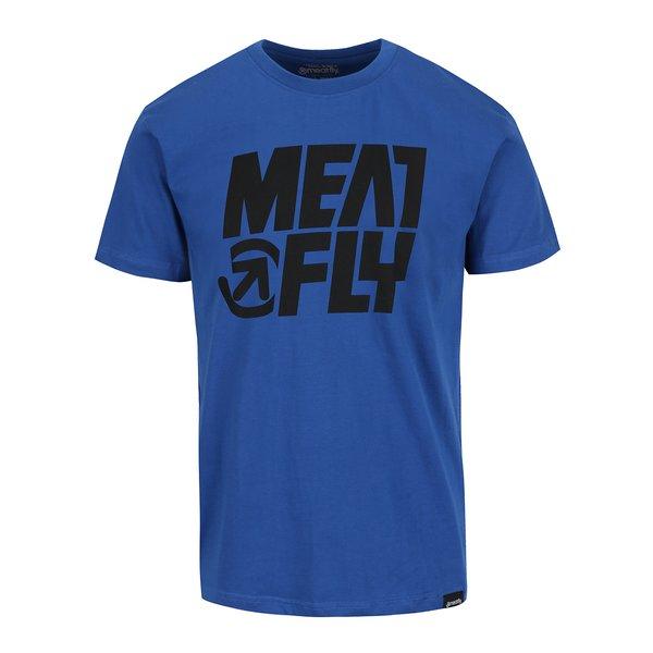 Tricou albastru cu print MEATFLY Shaper pentru bărbați de la Meatfly in categoria Tricouri și bluze