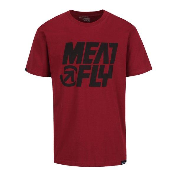 Tricou roșu cu print MEATFLY Shaper pentru bărbați de la Meatfly in categoria Tricouri și bluze