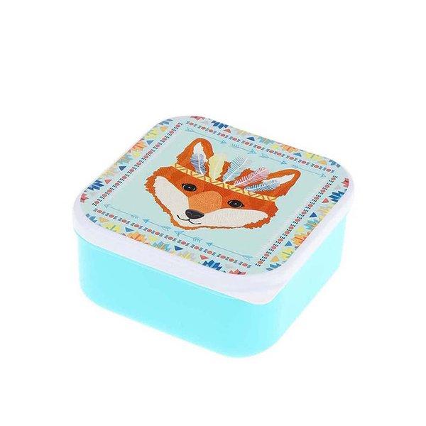 Caserolă turcoaz din plastic cu print cu vulpe Sass & Belle Fox Tribal de la Sass & Belle in categoria Bucătăria