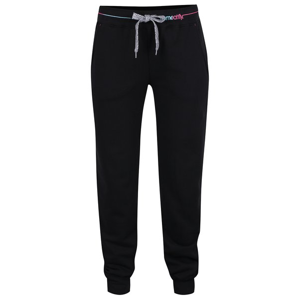 Pantaloni sport negri MEATFLY Toy 2 pentru femei