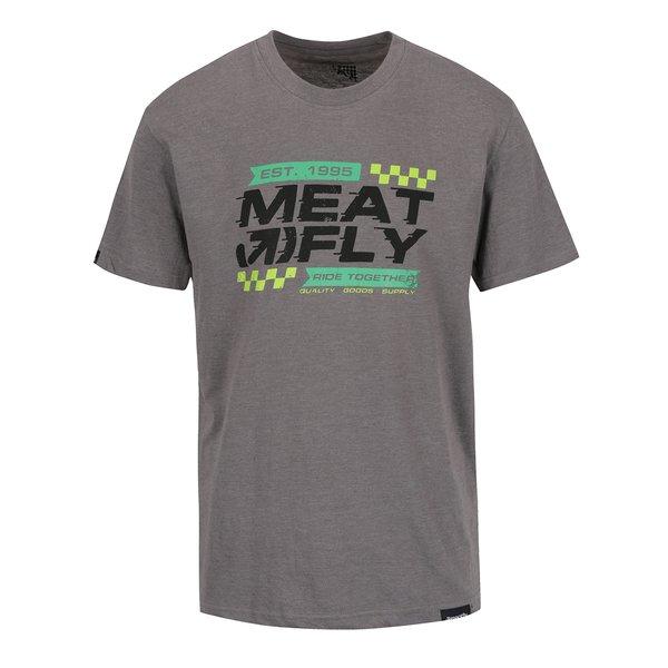 Tricou gri cu print MEATFLY Rule pentru bărbați de la Meatfly in categoria tricouri