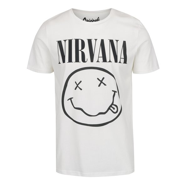 Tricou alb Jack & Jones Nirvana cu print de la Jack & Jones in categoria tricouri