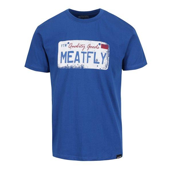 Tricou albastru cu print MEATFLY Carplate pentru bărbați de la Meatfly in categoria Tricouri și bluze