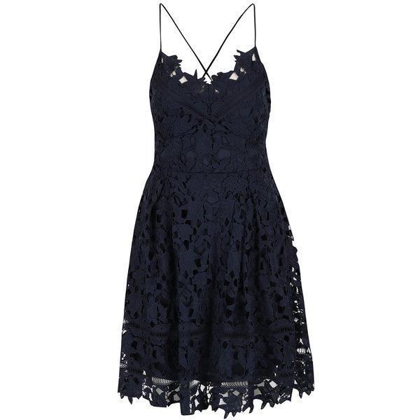 Rochie bleumarin VILA Clarna din dantelă de la VILA in categoria rochii de seară