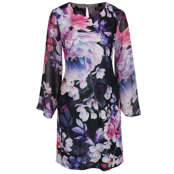 Rochie albastră Billie & Blossom cu model floral de la Billie & Blossom in categoria rochii casual