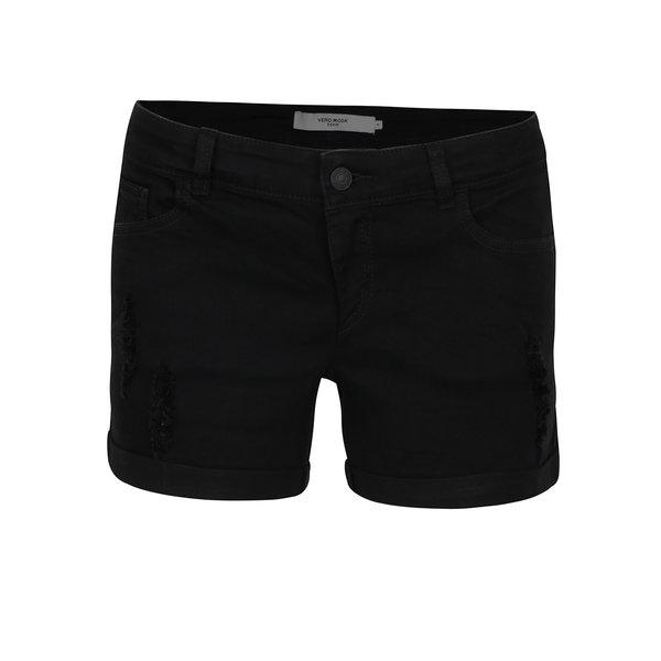 Pantaloni scurți negri VERO MODA Be Five din denim de la VERO MODA in categoria Blugi, pantaloni, colanți