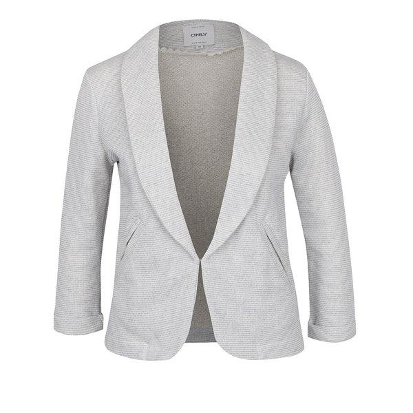 Sacou cu dungi crem & albastru ONLY Hanna de la ONLY in categoria Geci, jachete și sacouri