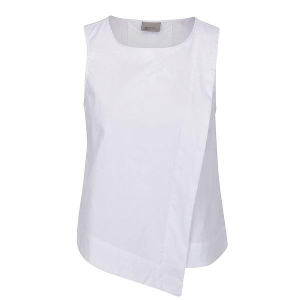 Bluză albă VERO MODA Smilla cu decupaj la spate